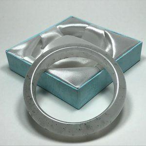 57.3mm Clear Gray Genuine Jadeite Jade Bangle